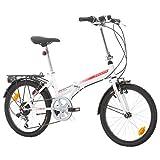 Bikesport FOLDING Bicicleta plegable ruedas de 20' Shimano 6 velocidades (Blanco...