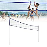 cedarfiny Volleyball Net Set Outdoor with Poles, Outdoor Portable Volleyball Net...