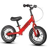 Boy GirlTraining Bicicleta de equilibrio, marco de acero al carbono, manillar y...